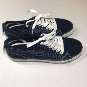 NWOT Tommy Hilfiger Blue Logo Fashion Sneakers